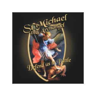 セントマイケルは大天使戦いの米国を守ります キャンバスプリント