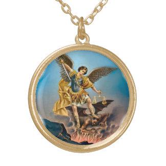 セントマイケル大天使のネックレス ゴールドプレートネックレス