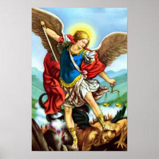セントマイケル大天使の天使のカトリック教徒の聖者 ポスター