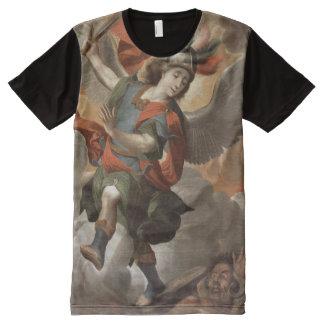 セントマイケル大天使 オールオーバープリントT シャツ