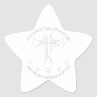 セントマイケル大天使-白いステンシル 星シール
