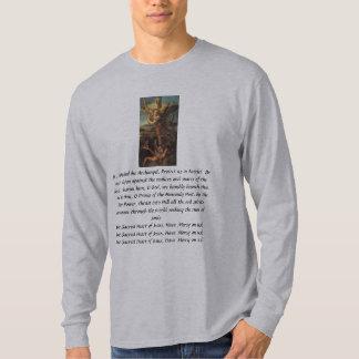"""""""セントマイケル祈りの言葉""""のTheresa Hartman Tシャツ"""