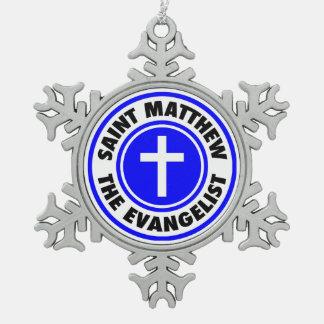 セントマシュー島福音伝道者 スノーフレークピューターオーナメント