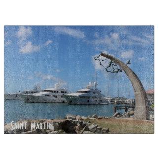 セントマーチンによっては写真がヨットに乗ります カッティングボード