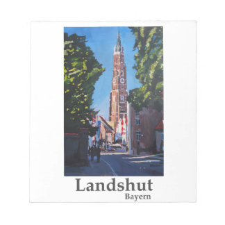 セントマーチン教会とのLandshutのinBavaria ノートパッド