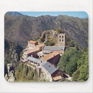 セントマーチンdu Canigouの大修道院の眺め マウスパッド