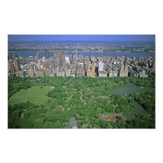 セントラル・パークおよび西側の空中写真 フォトプリント
