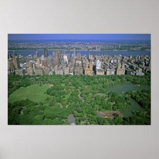 セントラル・パークおよび西側の空中写真 ポスター