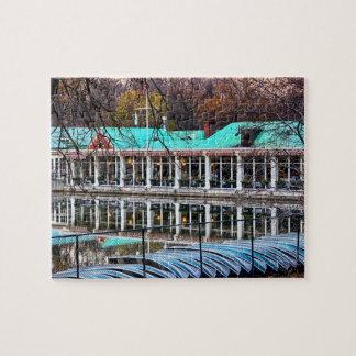 セントラル・パークのボートのレストランのボートハウス ジグソーパズル