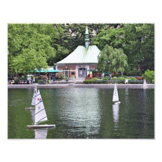 セントラル・パークのボートの池 フォトプリント