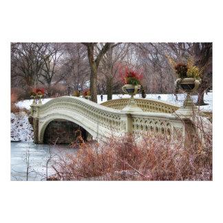 セントラル・パークの弓橋写真 フォトプリント