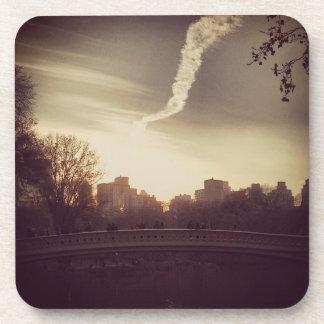 セントラル・パークの弓橋、NYCのコースター コースター