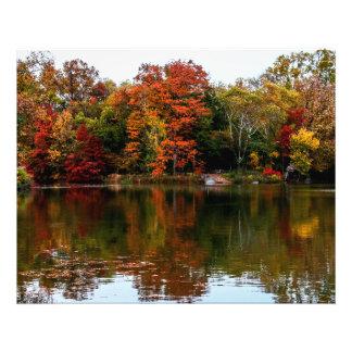 セントラル・パークの秋の秋の景色の写真 フォトプリント