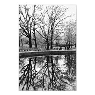 セントラル・パークの豪華な冬の景色 フォトプリント