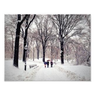 セントラル・パークへの冬家族旅行 フォトプリント