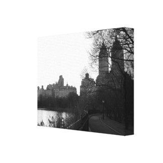 セントラル・パークニューヨークシティNYCの黒及び白 キャンバスプリント