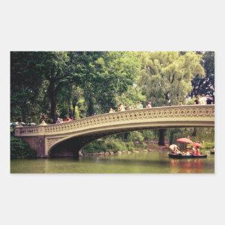 セントラル・パークロマンスの-弓橋-ニューヨークシティ 長方形シール