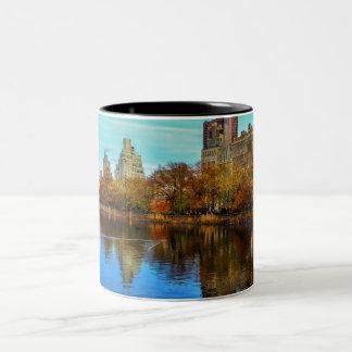 セントラル・パーク美しいNYCの景色 ツートーンマグカップ
