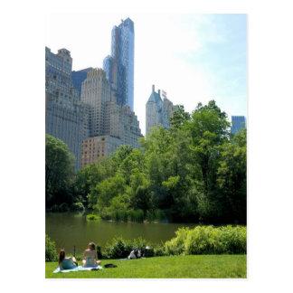 セントラル・パーク…ニューヨークシティの郵便はがきの夏 ポストカード