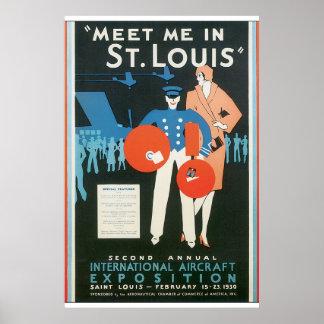 セントルイスのヴィンテージ旅行ポスターアートワークの私に会って下さい ポスター