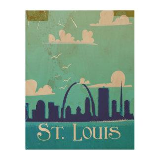 セントルイスのヴィンテージ旅行ポスター ウッドウォールアート
