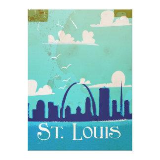 セントルイスのヴィンテージ旅行ポスター キャンバスプリント
