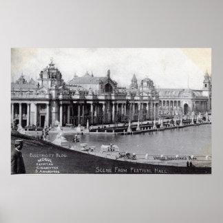 セントルイスの万国博覧会の1904年のヴィンテージ ポスター