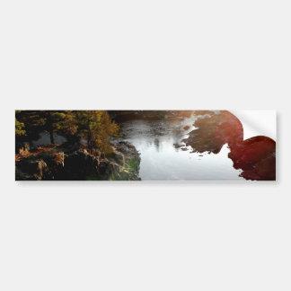 セントルイスの川上の日曜日のまぶしさ バンパーステッカー