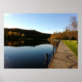 セントルイスの川、秋 ポスター