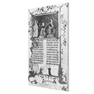 セントルイスの彼の本を提供しているジーンde Joinville キャンバスプリント