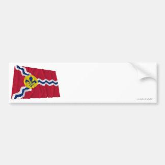セントルイスの振る旗 バンパーステッカー