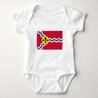 セントルイスの旗 ベビーボディスーツ