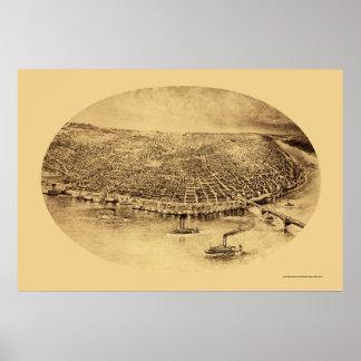 セントルイスのMOのパノラマ式の地図- 1897年 ポスター