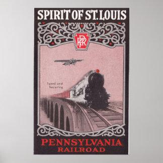 セントルイスのPRRの列車の精神 ポスター