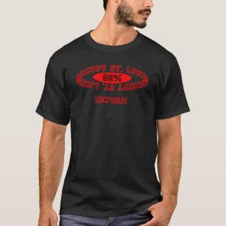 """セントルイスを- """"改良""""の暗いワイシャツ占めて下さい Tシャツ"""