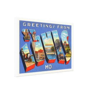 セントルイスミズーリMOの古いヴィンテージ旅行記念品 キャンバスプリント
