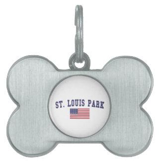 セントルイス公園米国の旗 ペットネームタグ