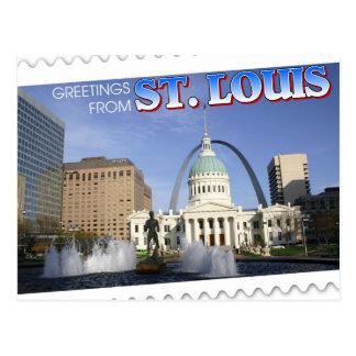 セントルイス、ミズーリからの挨拶 ポストカード