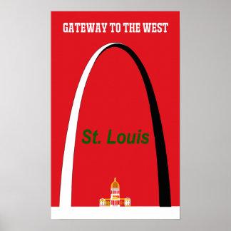 セントルイス、ミズーリ旅行ポスター ポスター