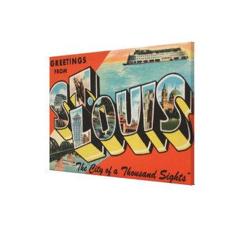 セントルイス、ミズーリ-大きい手紙場面2 キャンバスプリント