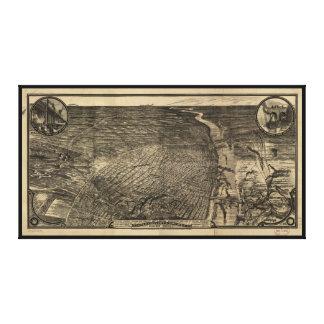 セントルイス、ミズーリ(1876年)の鳥瞰的な眺め キャンバスプリント
