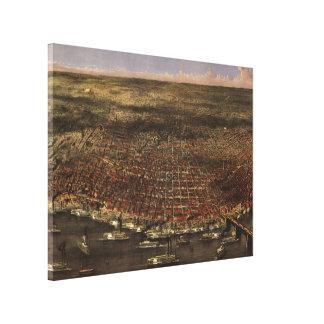 セントルイス(1874年)のヴィンテージの絵解き地図 キャンバスプリント