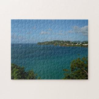 セントルシアのカリブのな休暇の写真の海岸 ジグソーパズル