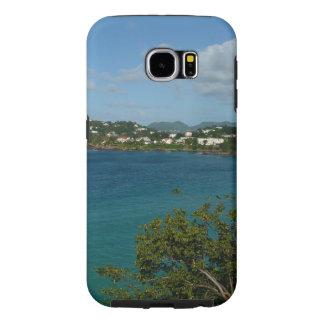セントルシアのカリブのな休暇の写真の海岸 SAMSUNG GALAXY S6 ケース