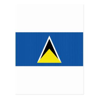 セントルシアの国旗 ポストカード