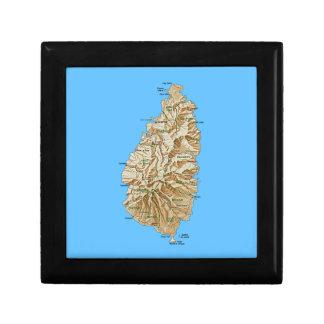 セントルシアの地図のギフト用の箱 ギフトボックス