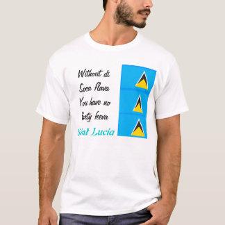 セントルシアの夏のフェスティバルのTシャツ Tシャツ