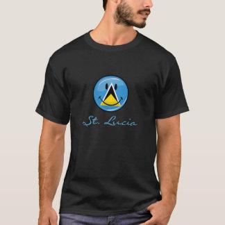 セントルシアの微笑の旗 Tシャツ