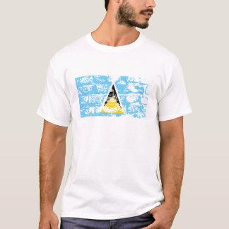 セントルシアの旗 Tシャツ