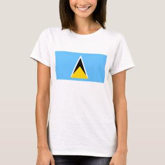 セントルシアの旗Xの地図のTシャツ Tシャツ